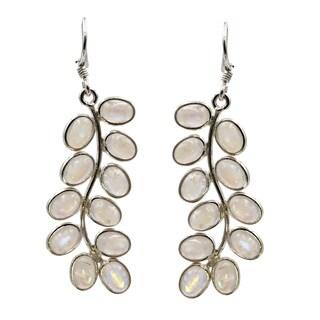 Sterling Silver Moonstone Flora Earrings