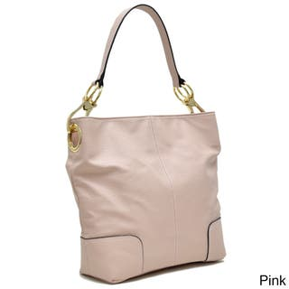 Dasein Classic Faux Leather Large Corner Patched Hobo Handbag