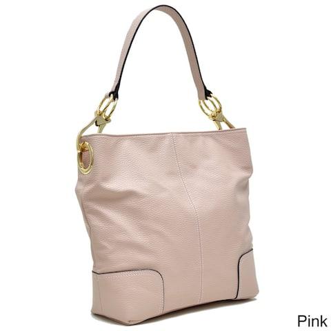 Dasein Classic Large Corner Patched Hobo Handbag