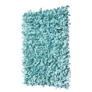 Blue Jersey Shaggy Indoor Accent Rug (2' x 3')