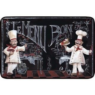 Chalkboard Chefs Designer Chef Series 24-inch x 36-inch Oversized Antifatigue Kitchen Mats - multi
