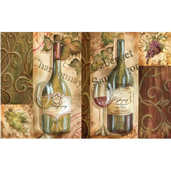 oversized designer chef series napa wine collage 24inch x 36inch anti - Anti Fatigue Kitchen Mat