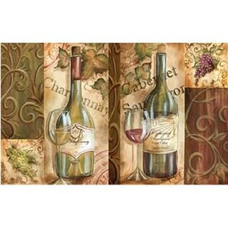 Oversized Designer Chef Series Napa Wine Collage 24-inch x 36-inch Anti-fatigue Kitchen Mats