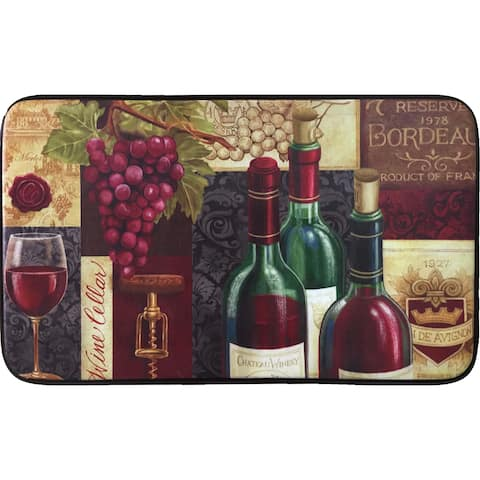 Designer Chef Series 'Favorite Reds' Memory Foam Antifatigue Kitchen Mat - 24 x 36