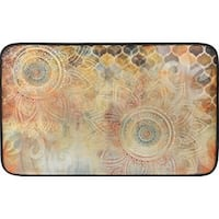 Designer Chef Series Boho Study Floral Oversized 24-inch x 36-inch Anti-fatigue Kitchen Mat - multi