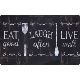 Designer Chef Series Eat Laugh Live 24-inch x 36-inch Oversized Antifatigue Kitchen Mats - multi