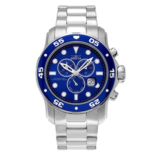 Invicta Men's 15082 'Pro Diver' Stainless Steel Chronograph Dial Link Bracelet Watch
