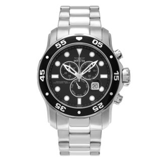 Invicta Men's 'Pro Diver' 15081 Stainless Steel Chronograph Dial Link Bracelet Watch