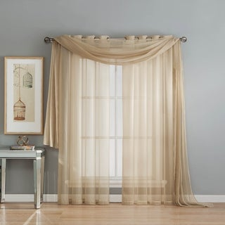 Window Elements Sheer Voile 216-inch Curtain Scarf - 54 x 216 in. (2 options available)