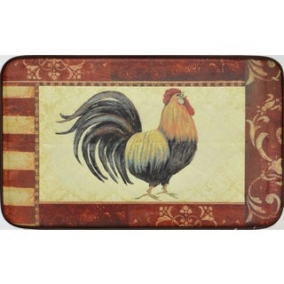 Designer Chef Series Oversized 24-inch x 36-inch Anti-fatigue Rooster Kitchen Mat