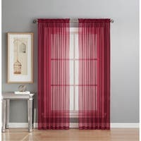 Window Elements Sheer Voile Rod Pocket Extra Wide 63-inch Curtain Panel - 54 x 63 in.