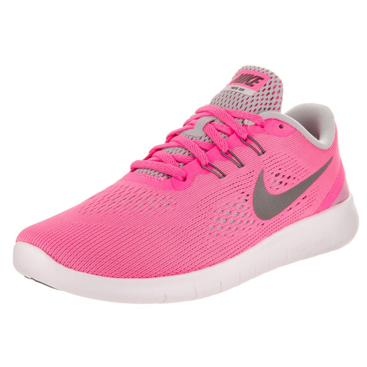 Nike Kids' Free Rn (GS) Running Shoes (5.5), Boy's, Pink