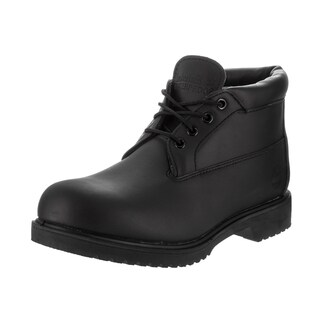 Timberland Men's Black Leather Waterproof Chukka Boot