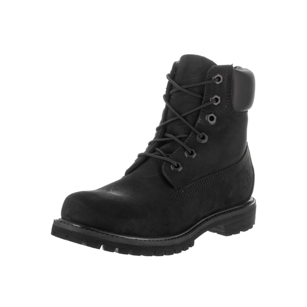 b9b646c64 Timberland Women's AF Black Synthetic-leather 6-inch Premium Waterproof