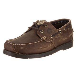 Timberland Men's Kia Wah Bay Brown Leather Boat Shoe