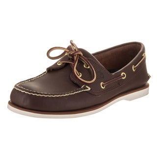 Timberland Men's Brown Leather Classic 2-Eye Boat Shoe