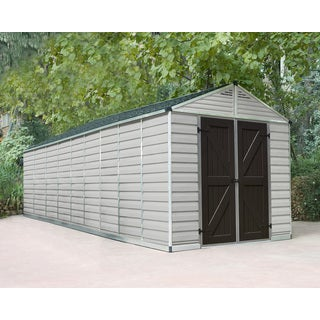 Palrma 8ft. x 20ft. Tan/Brown Skylight Shed
