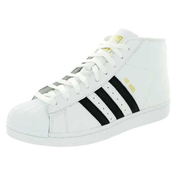 0cdd70dbec6 Shop Adidas Men s Pro Model Originals White Leather Basketball Shoes ...