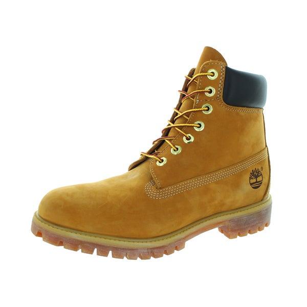 Timberland Men  x27 s 6-Inch Premium Waterproof Leather Work Boot Wheat  Nubuck f7e39341f6