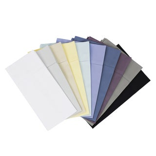 Solid Hemstitch 400 Thread Count Sateen Cotton Sheet Set