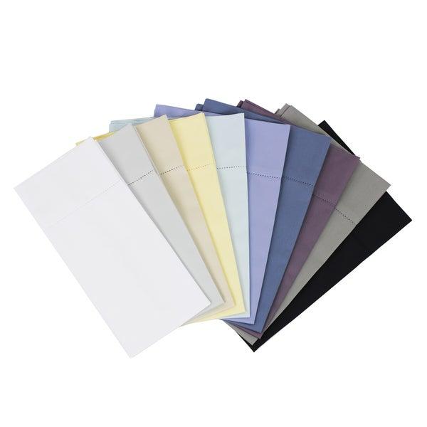 Solid Hemstitch 400 Thread Count Sateen Cotton Sheet Set