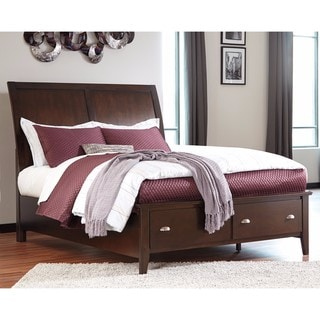 Signature Design by Ashley Evanburg Brown Queen Sleigh Storage Bed