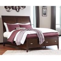 Signature Design by Ashley Evanburg Brown Queen Sleigh Storage Bed