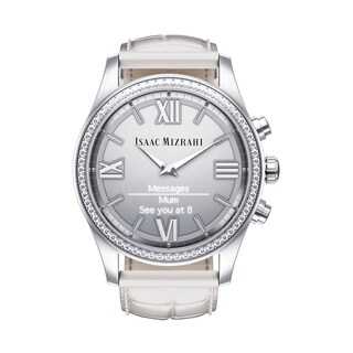 Isaac Mizrahi Women's Silver Crystal Smartwatch