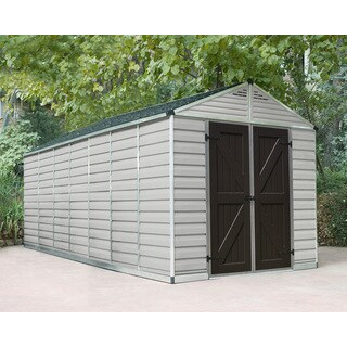 Palram 8ft. x16ft. Tan/Brown Skylight Shed
