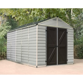 Palram 8ft. x 12ft. Tan/Brown Skylight Shed