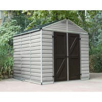 Palram 8ft. x 8ft. Tan/Brown Skylight Shed