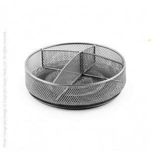 Design Ideas Silver Steel Mesh Condiment Spinner