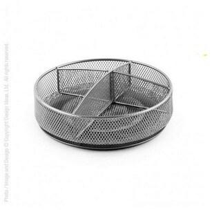 Design Ideas Silver Steel Mesh Condiment Spinner