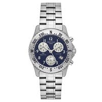 Certina Men's DS Nautic  Silvertone Strap/Blue Dial Stainless Steel Watch - silver