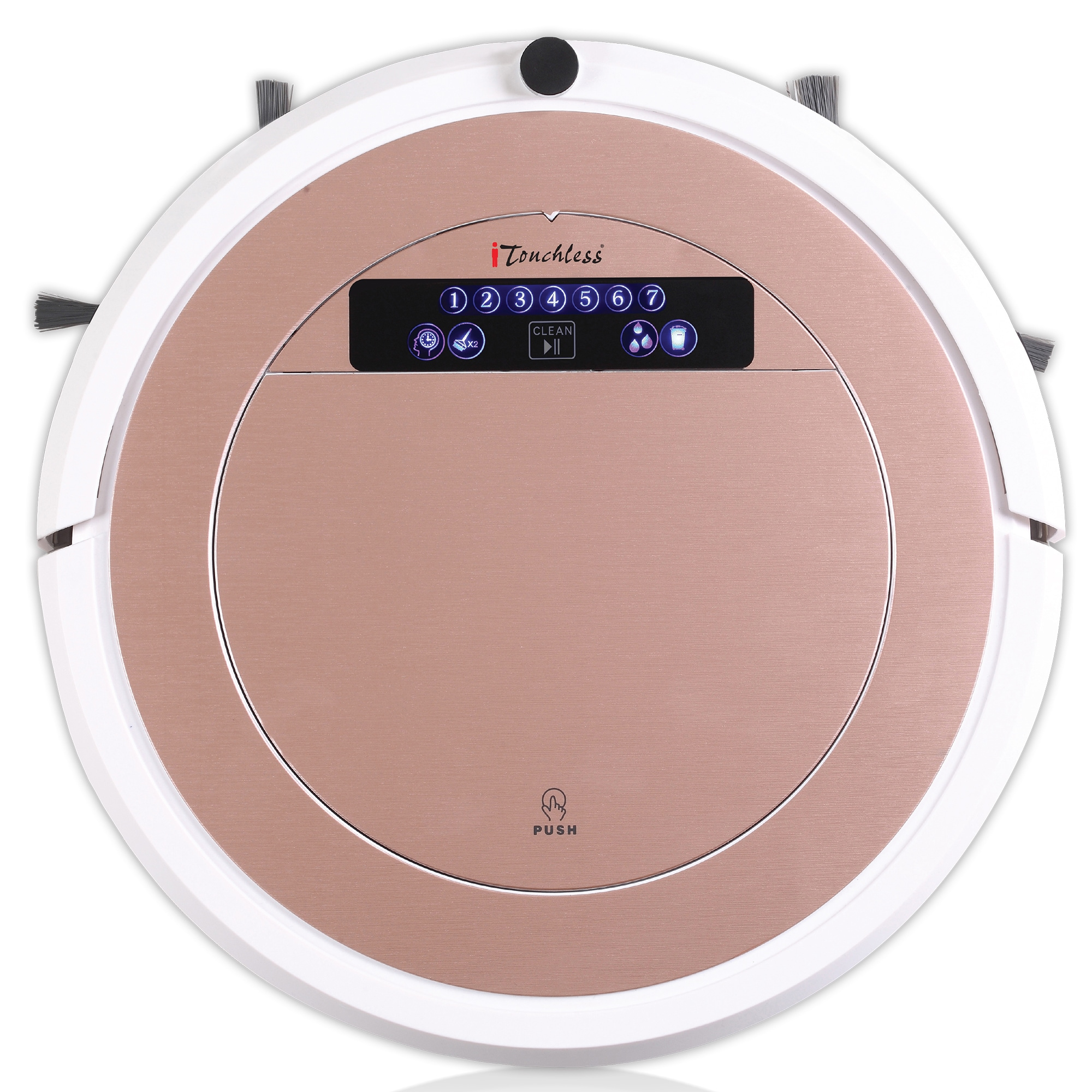 iTouchless UV-C Sterilizer Pink Robot Vacuum Cleaner with...
