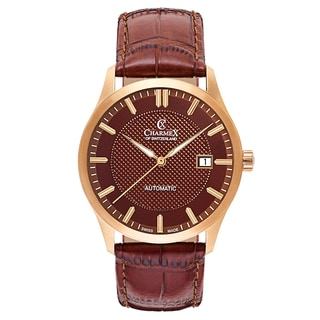 Charmex La Tremola 2649 Men's Watch with Brown Leather Strap and Brown Dial