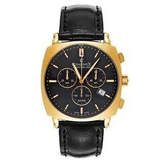 Charmex Vintage 2421 Black Leather Watch