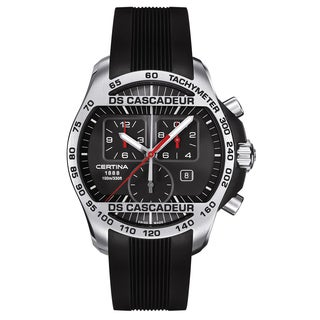 Certina DS Cascadeur C003-617-27-050-00 Men's Watch with Black Rubber Strap and Black Dial