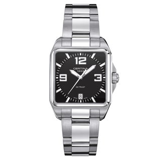 Certina DS Trust Men's C019-510-11-057-00 Silver Strap with Black Dial Stainless Steel Watch