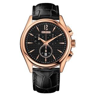 Balmain Men's Balman B72693264 Black Strap with Black Dial Leather Watch