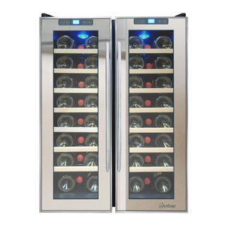 Element by Vinotemp 48-bottle Dual-zone Thermoelectric Mirrored Wine Cooler