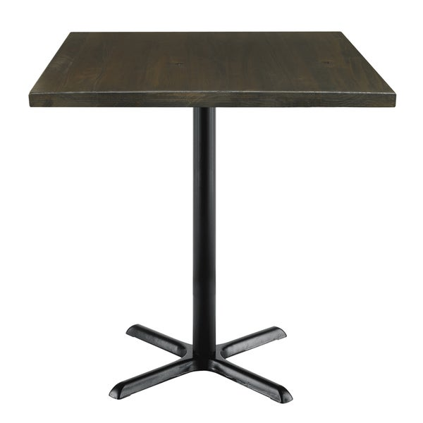 Beau KFI Urban Loft Espresso Vintage Wood 36in Square Bistro Table