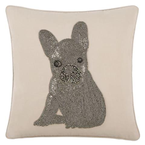 Echelon Home French Bulldog Decorative Throw Pillow