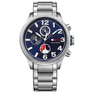 Tommy Hilfiger Jackson Silver/Blue Stainless Steel Watch