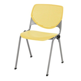 Kool Yellow Poly Perforated Back Stack Chair