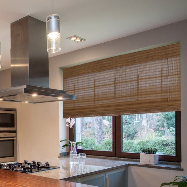 Radiance Westside Collection Bamboo Roman Shade Pecan