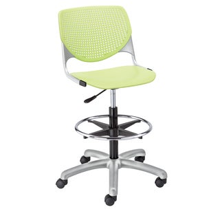 KFI Seating KOOL Lime Green Poly Adjustable Drafting Stool