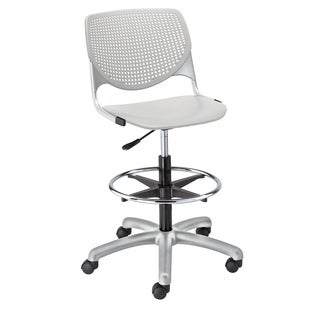KOOL Light Grey Adjustable Drafting Stool