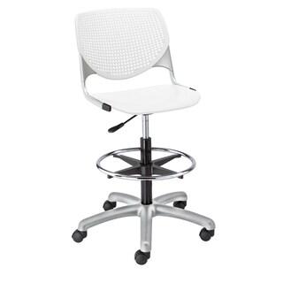 KFI Seating KOOL White Adjustable Drafting Stool