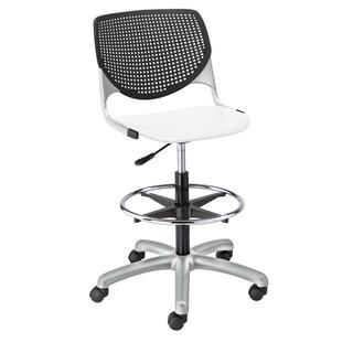 KFI Seating KOOL Black/White Poly Adjustable Drafting Stool